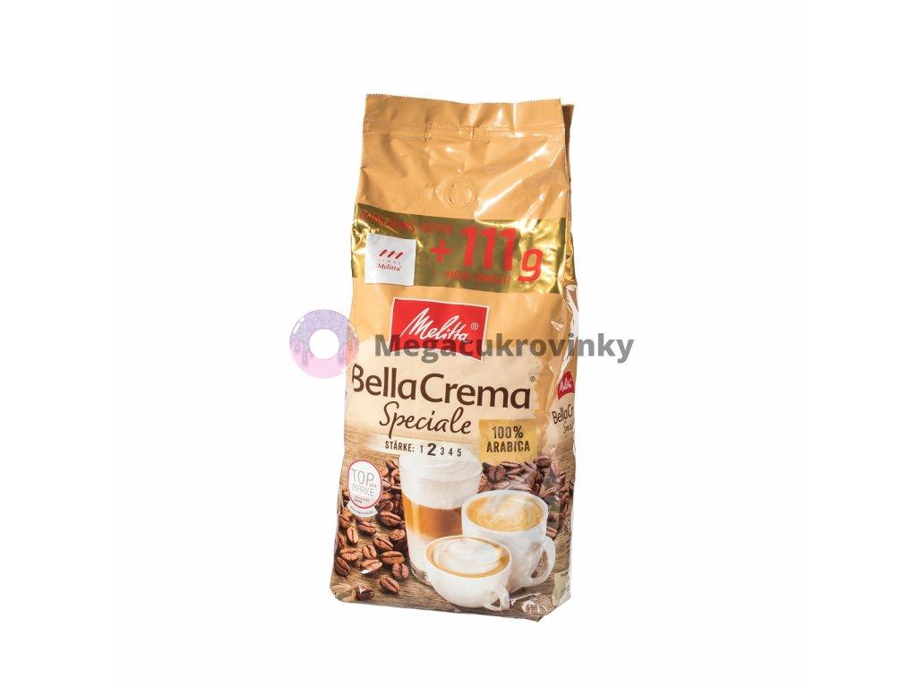 Melitta Bellacrema Speciale zrnková káva 1kg + 111g zdarma