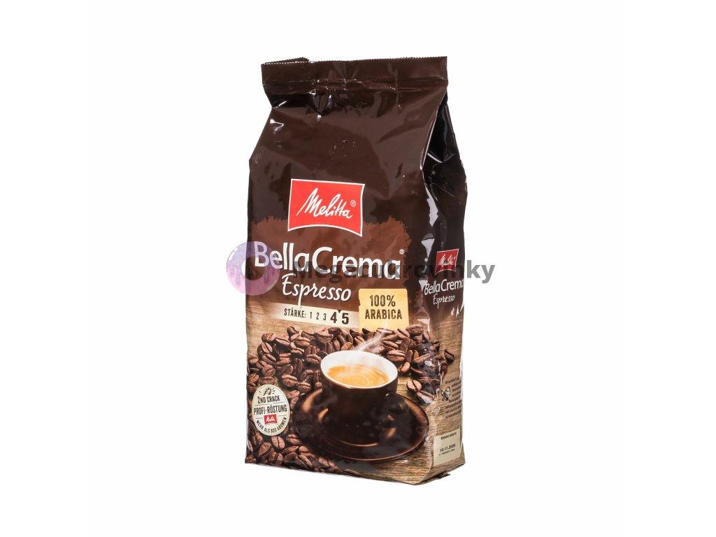 Melitta Belacrema Espresso zrnková káva 1kg + 111g zdarma