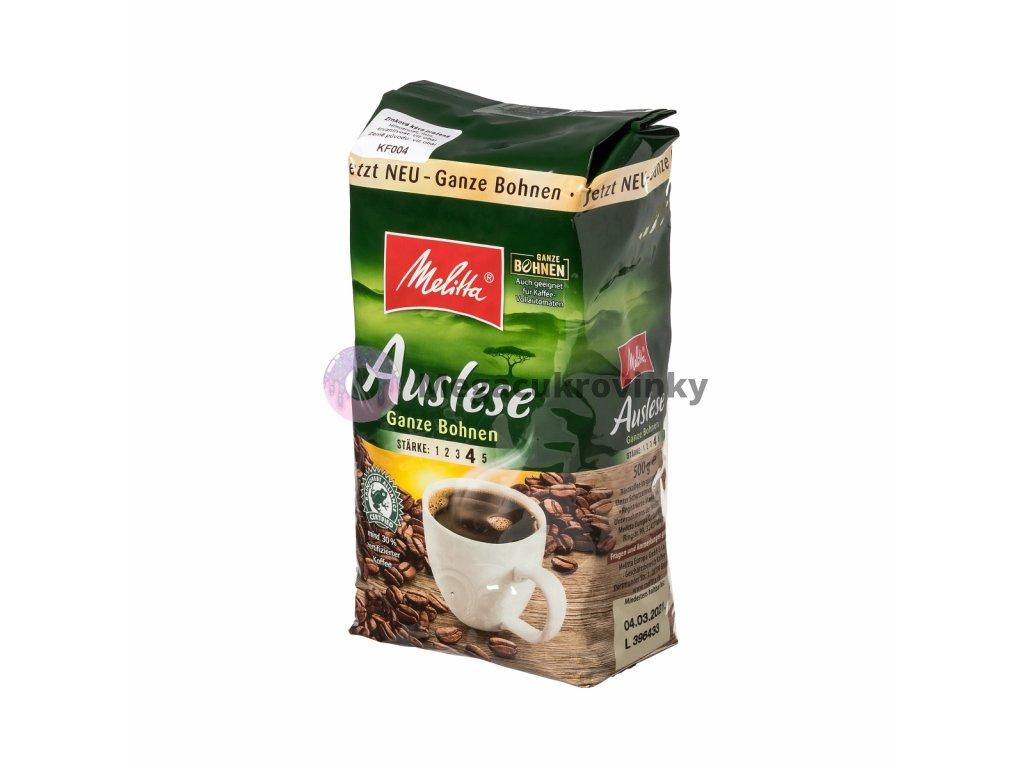 Melitta Auslese Ganze Bohne zrnková káva 500g