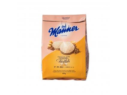 Manner Dortíky Čokoláda-karamel 400g