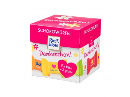 Ritter Sport chocolate dice thank you+2 zdarma192g box